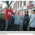 Billede fra Dagbladet Roskildes artikel om samarbejdet